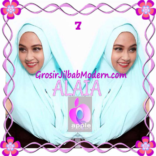 Jilbab  Pashmina Instan Hoodie Alaia Plain by Apple Hijab Brand No 7 Mint