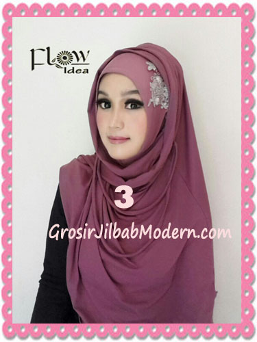 Jilbab Syria Instant Modern Trendy Dealova By Flow Idea No 3 Dusty Ungu