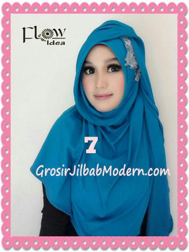 Jilbab Syria Instant Modern Trendy Dealova By Flow Idea No 7 Biru Tosca