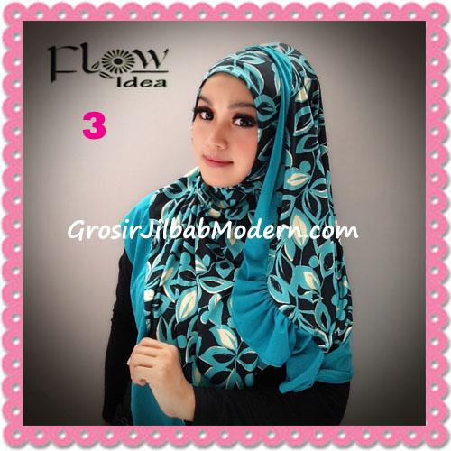 Jilbab Syria Layer Corak Daun Qory by Flow Idea No 3 Tosca