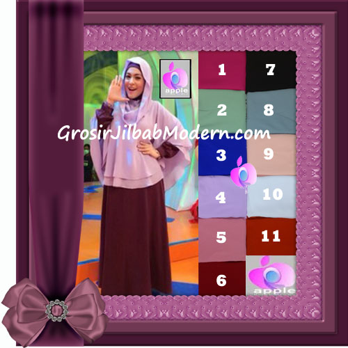 Jilbab Trendy Cafe Khimar Astrid Hoodie by Apple Hijab Brand
