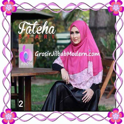 Khimar Cerutti Modis Cantik Fateha  by Apple Hijab Brand No 2 Shoking Pink