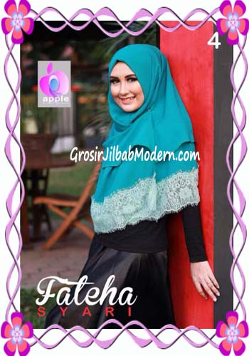 Khimar Cerutti Modis Cantik Fateha  by Apple Hijab Brand No 4 Tosca