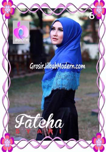 Khimar Cerutti Modis Cantik Fateha  by Apple Hijab Brand No 8 Elblue