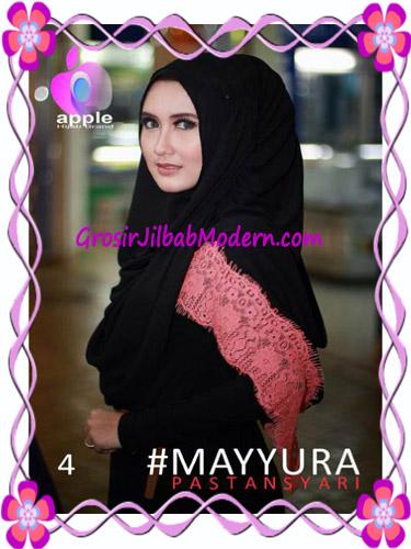 Pashmina Instan Modern Stylish Mayyura By Apple Hijab Brand No 4 Hitam