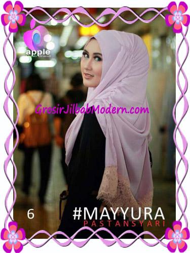 Pashmina Instan Modern Stylish Mayyura By Apple Hijab Brand No 6 Soft Dusty