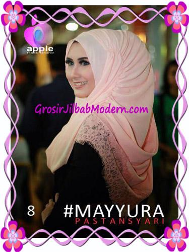 Pashmina Instan Modern Stylish Mayyura By Apple Hijab Brand No 8 Peach