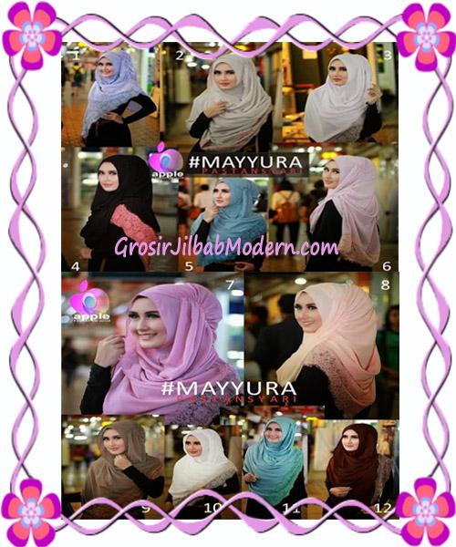 Pashmina Instan Modern Stylish Mayyura By Apple Hijab Brand Series