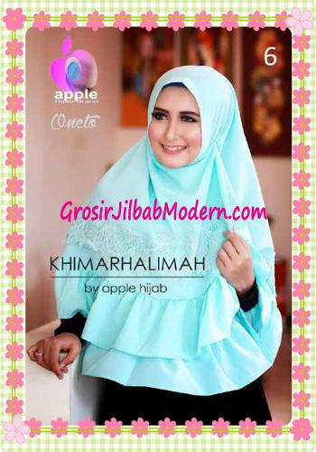 Hijab Syar'i Khimar Halimah Cantik Original By Apple Hijab Brand No 6 Mint