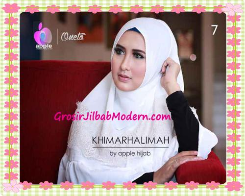 Hijab Syar'i Khimar Halimah Cantik Original By Apple Hijab Brand No 7 Broken White