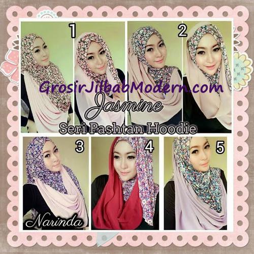 Jilbab Instant Jasmine Pashtan Hoodie Terbaru by Narinda Hijab Series