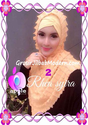 Jilbab Instant Modis Rhea Syria Ruffle Original by Apple Hijab Brand No 2 Gold