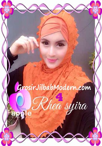 Jilbab Instant Modis Rhea Syria Ruffle Original by Apple Hijab Brand No 4 Taracota
