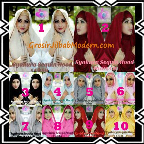 Jilbab Instant Syria Hoodie Syakura Sequin Original by Apple Hijab Brand Series