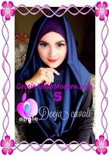 Jilbab Instant Terbaru Deeja Cavali Hoodie Exclusive Original by Apple Hijab Brand No 5 Navy Blue
