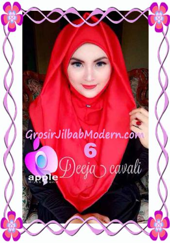 Jilbab Instant Terbaru Deeja Cavali Hoodie Exclusive Original by Apple Hijab Brand No 6 Merah