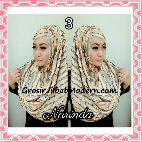 Jilbab Pashmina Instan Ruffle 3tone Modis by Narinda No 3