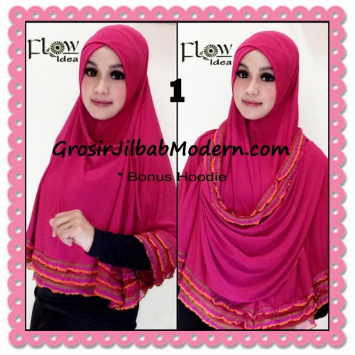 Jilbab Syria Jumbo Syar'i Hawwa Original by Flow Idea No 1 Merah Fanta