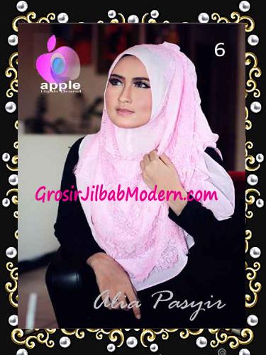 Pashmina Instan Exclusive Terbaru Alia Pasyir By Apple Hijab Brand No 6 Babe Pink
