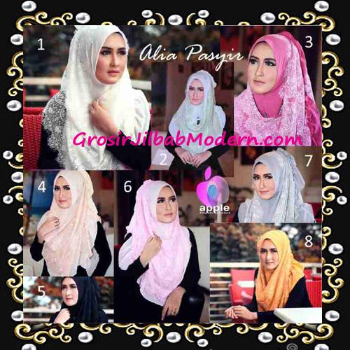 Pashmina Instan Exclusive Terbaru Alia Pasyir By Apple Hijab Brand Series