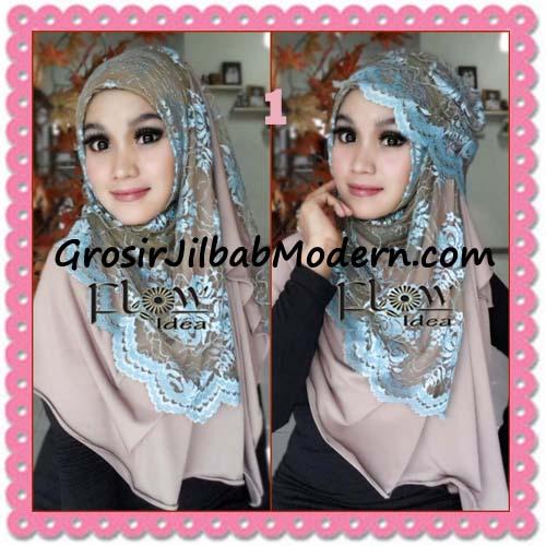 Jilbab Instant Cantik Syria Pashmina Terbaru LACENZA by Flow Idea No 1 Coksu