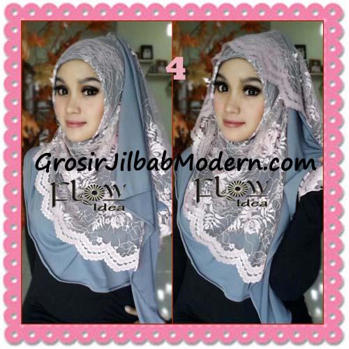 Jilbab Instant Cantik Syria Pashmina Terbaru LACENZA by Flow Idea No 4 Abu