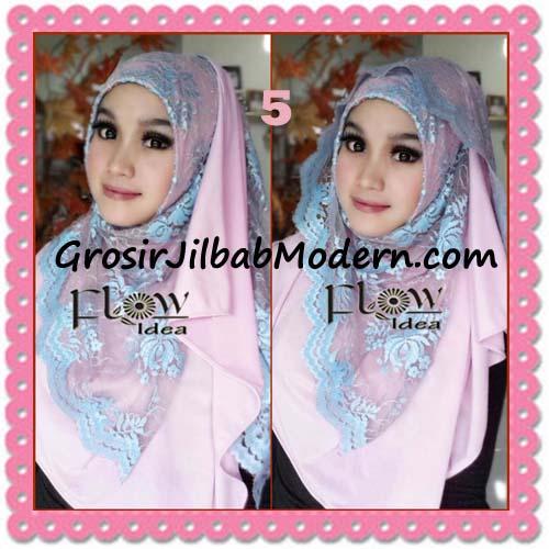 Jilbab Instant Cantik Syria Pashmina Terbaru LACENZA by Flow Idea No 5 Baby Pink