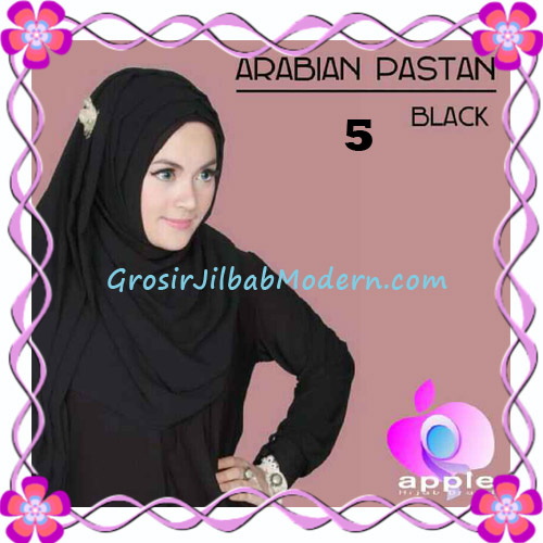 Jilbab Instant Modern Arabian Pastan Original by Apple Hijab Brand No 5 Black