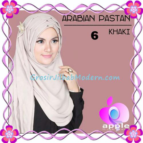 Jilbab Instant Modern Arabian Pastan Original by Apple Hijab Brand No 6 Khaki
