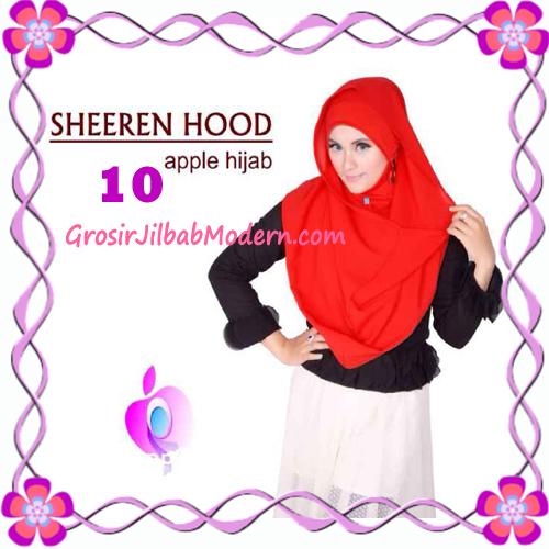 Jilbab Instant Modis Sheeren Hoodie Original by Apple Hijab Brand No 10 Merah