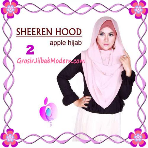 Jilbab Instant Modis Sheeren Hoodie Original by Apple Hijab Brand No 2 Dusty Pink