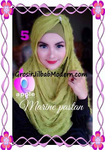 Jilbab Pashmina Instant Marine Modis by Apple Hijab Brand No 5 Hijau