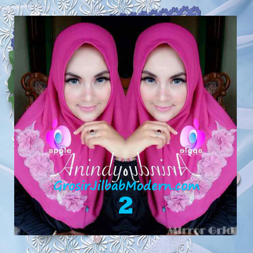 Jilbab Syria Anindya Bunga 3 Dimensi Original By Apple Hijab Brand No 2 Shocking Pink