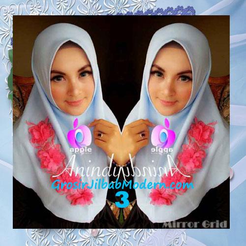 Jilbab Syria Anindya Bunga 3 Dimensi Original By Apple Hijab Brand No 3 Biru Langit