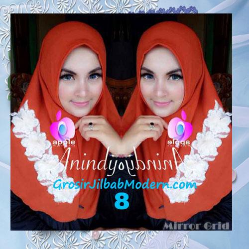 Jilbab Syria Anindya Bunga 3 Dimensi Original By Apple Hijab Brand No 8 Bata