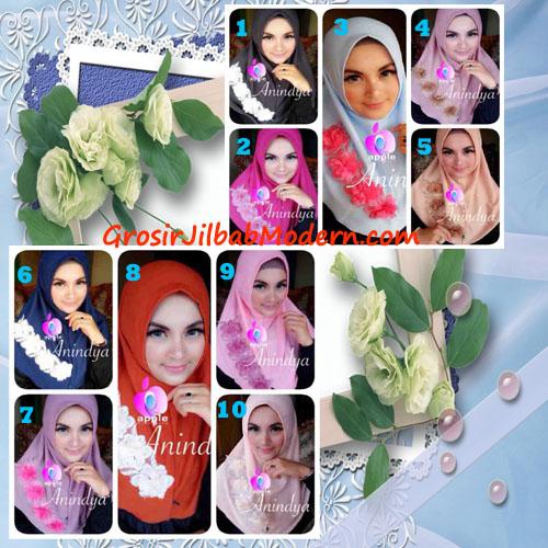 Jilbab Syria Anindya Bunga 3 Dimensi Original By Apple Hijab Brand Series