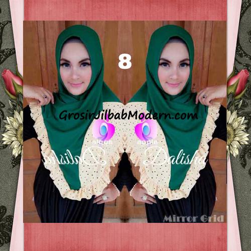 Jilbab Syria Cantik Dalisha by Apple Hijab Brand No 8 Hijau
