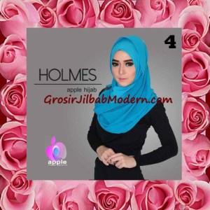 Jilbab Syria Pashmina Instant Modis Terbaru Holmes by Apple Hijab Brand No 4 Biru Toska