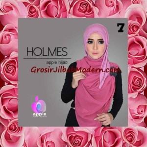 Jilbab Syria Pashmina Instant Modis Terbaru Holmes by Apple Hijab Brand No 7 Magenta