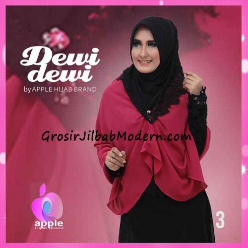 Jilbab Syria Syar'i Dewi Dewi Trendy Original by Apple Hijab Brand No 3