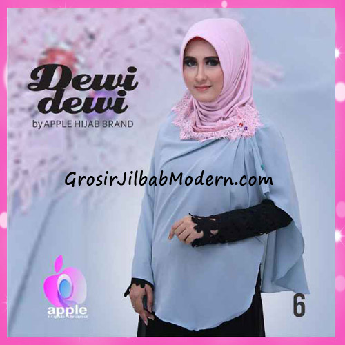 Jilbab Syria Syar'i Dewi Dewi Trendy Original by Apple Hijab Brand No 6
