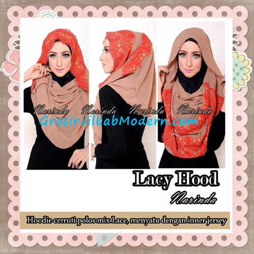 Jilbab Hoodie Instant Cantik Lacy Hood Original By Narinda - Detail
