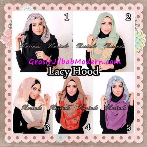 Jilbab Hoodie Instant Cantik Lacy Hood Original By Narinda Series