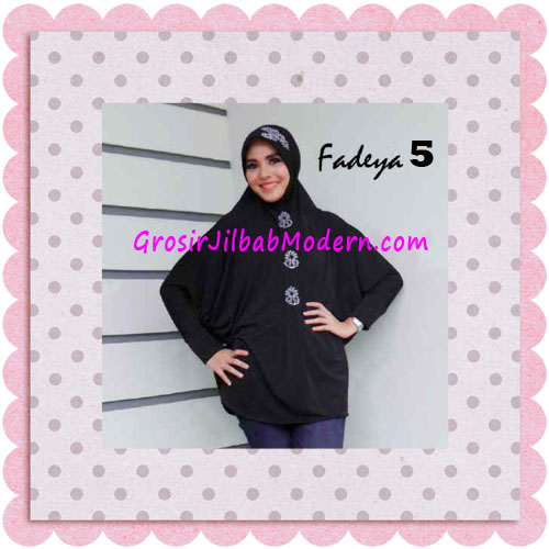 Jilbab Instant Lengan Bergo Inindia Simple Original Fadeya Brand No 5 Black