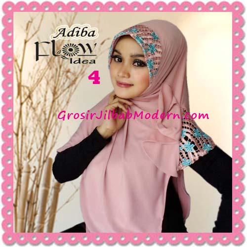 Jilbab Instant Syria Modis Adiba Original by Flow Idea No 4 Dusty Pink