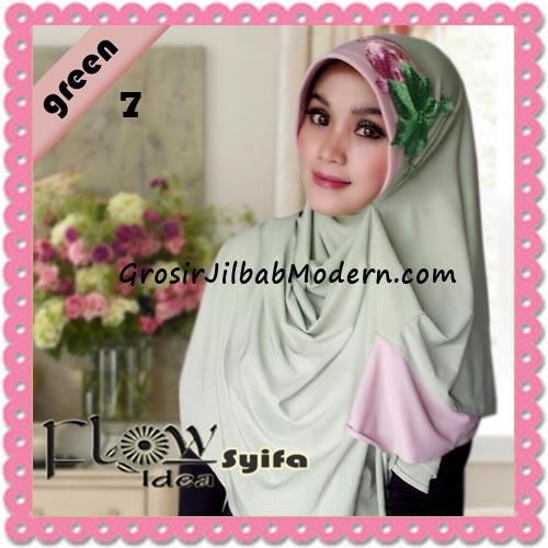 Jilbab Instant Syria Pet Two Tone Syifa Original by Flow Idea No 7 Green