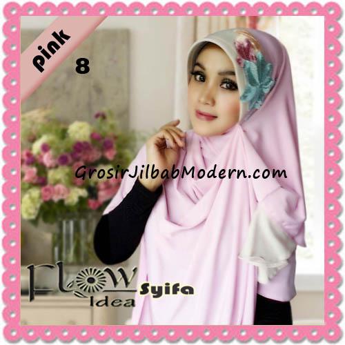 Jilbab Instant Syria Pet Two Tone Syifa Original by Flow Idea No 8 Pink