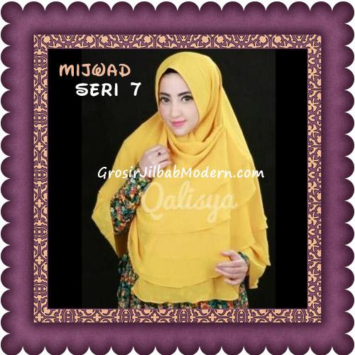 Jilbab Khimar Syar'i Mijwad Polos Seri 7 Original by Qalisya - Kuning Kunyit