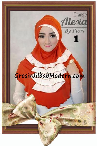 Jilbab Modern Cantik Syria Daily Alexa by Fiori Design No 1 Orange
