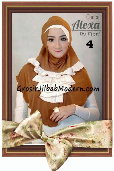 Jilbab Modern Cantik Syria Daily Alexa by Fiori Design No 4 Choco